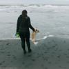 dogbeach (scissabob) Tags: dog california beach leica leicam carry woman fortfunston