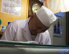 Daiwa Sushi chef (Tsukiji) (MichaelSCarroll) Tags: sushi tokyo tsukiji daiwa counter bar 寿司