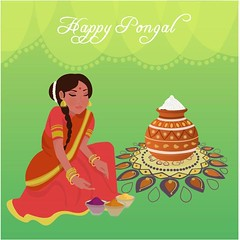 free vector Happy Pongal Day 14th January 2017 With Women Background (cgvector) Tags: 14thjanuary 2017 agriculture asian banana banner card celebration coconut colorful creative culture decoration design family farmer festival floral food fruit grain greeting happy health hindu holiday india indian mud pongal poster pot prosperity rangoli religious rice sankranti shiny south sugarcane sun sweet tamil thankful traditional women flower illustration tradition vector wheat
