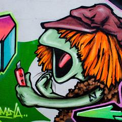 Maya (Thomas Hawk) Tags: florida miami sesamestreet usa unitedstates unitedstatesofamerica wynwood graffiti muppet