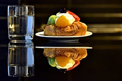 A bit of sweetness (Sanjiban2011) Tags: croissant dessert sweet food foodphotography culinary reflection tabletop indoor stilllife objects nikon d750 fullframe tamron tamron70200