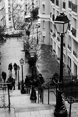 Montmartre Paris (AbdelBokeh) Tags: montmartre paris stairs lamps