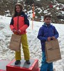 U10 Ski 2nd Claudia Russell, 1st Any Benson