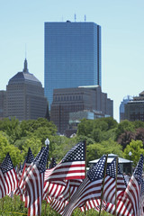 Memorial Day at the Boston Common (JimmyJGreen) Tags: monument public boston remember massachusetts flags americanflags bostoncommon starsandstripes beaconhill services memorialday publicgarden oldglory