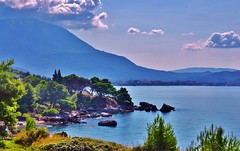 Montenegro - Adriatic coast (in morning light) (stevelamb007) Tags: morning sky mountain beautiful clouds landscape coast nikon adriatic montenegro adriaticsea 18200mm d90 stevelamb