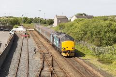 Maryport (ca2cal) Tags: england train crossing rail railway level cumbria 37 370 northern maryport drs 374 37406 37218 canonef70200mmf4lusm canon5dmkiii 2c41