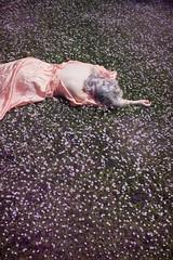 Forget Me Not (ShelbiNikol) Tags: flowers flower fairytale canon hair sadness dress purple forgetmenot melancholy pinkhair purplehair fieldofflowers bedofflowers lavenderhair lilachair