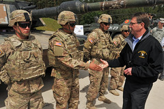 Secretary of Defense Carter visits the Grafenwoehr Training Area, June 26, 2015 (7thArmyJMTC) Tags: red germany europe secretary dod defense usarmy ashtoncarter 3rdinfantrydivision grafenwoehrtrainingarea jmtc 12thcombataviationbrigade 7tharmyjointmultinationaltrainingcommand europeanrotationalforce