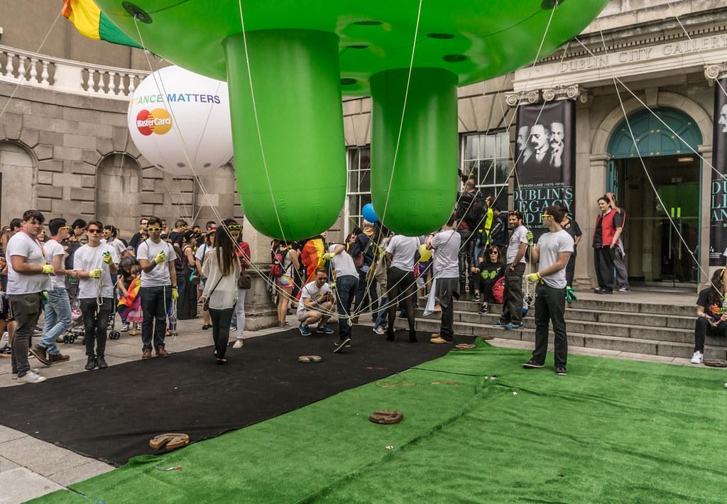 DUBLIN 2015 GAY PRIDE FESTIVAL [BEFORE THE ACTUAL PARADE] REF-106261
