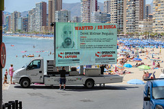 Crimestoppers digital advertising van attracted a lot of attention when it set-up on Benidorm's Playa Levante. (National Crime Agency) Tags: tv spain crime wanted esp benidorm criminals