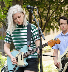 On stage - Alvvays @FCP, Toronto (Richard Wintle) Tags: park musician toronto ontario canada downtown guitar singer brookfield onstage guitarist fcp firstcanadianplace mollyrankin artsbrookfield alvvays