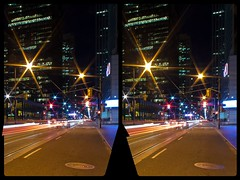 Hogtown at night 3-D ::: HDR by RAW ::: Cross-Eye Stereoscopy (Stereotron) Tags: toronto to tdot hogtown thequeencity thebigsmoke torontonian downtown financialdistrict night street lights north america canada province ontario crosseye crosseyed crossview xview cross eye pair freeview sidebyside sbs kreuzblick 3d 3dphoto 3dstereo 3rddimension spatial stereo stereo3d stereophoto stereophotography stereoscopic stereoscopy stereotron threedimensional stereoview stereophotomaker stereophotograph 3dpicture 3dglasses 3dimage twin canon eos 550d yongnuo radio transmitter remote control synchron in synch kitlens 1855mm tonemapping hdr hdri raw cr2 longexposure availablelight 3dframe fancyframe floatingwindow spatialframe stereowindow window 100v10f