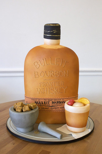 Sculpted Bourbon Bottle Cake