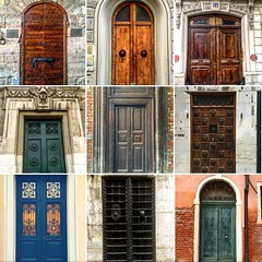 Doors of Europe (El Cheech) Tags: wall stone brick vintage artdeco art photography vencia milano milan roma entrada puerta french paris florence rome venice unitedkingdom england france italy architecture entrance wood gothic antique europeandoors europe doors door