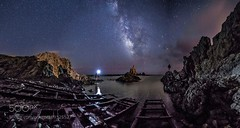 Explorers of the Galaxy (sergeyashin) Tags: ifttt 500px landscape sea people water reflection nature beach night light ocean rock natural nikon person stars spain long exposure star national park milky way naturaleza adventure cabo de gata paisaje almeria galaxy photography nightscape world