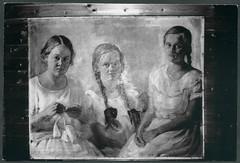 Archiv Chr345 Gemälde der drei Mädchen, 1920er (Hans-Michael Tappen) Tags: archivhansmichaeltappen gemälde tochter töchter geschwister schwester 1920er 1920s