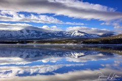 Lake McDonald Afternoon Reflection (rebeccalatsonphotography) Tags: reflection evening mountains water clouds winter lake lakemcdonald np glacier nationalpark montana rebeccalatsonphotography january 2017