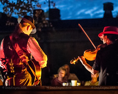 Delta Duo (IndyEnigma) Tags: music livemusic indianapolis indiana outdoor twilight autumn guitar violin d300
