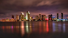 Light and clouds (Israel DeAlba) Tags: noche nightphoto lights color clouds nwn sandiego california israeldealba reflections