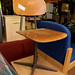 Retro metal and wood chair