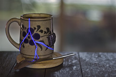 Favorite Mug (jkotrub) Tags: mug tea 52in2017 breakfast cracked lightning glow beauty hot steam drink design decay wabisabi coffee lighting bokeh rustic damaged morning cafe depthoffield cup