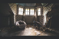 Hush little baby, don't you cry.. (Mini-UE || Mini-Photography) Tags: maison viron mansion lost abandoned decay decayed derelict decaying dark film video baby little light picture processing post process michel nicolaes explore exploring belgium