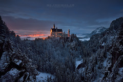 Schloss Neuschwanstein II (FredConcha) Tags: neuschwanstein palace castel germany landscape nature snow trees night sunset lee fredconcha nikond800 1635 light fussen bavaria schloss