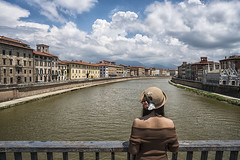 pisa (Roberto.Trombetta) Tags: italy italia pisa ponte solferino clouds gambacorti lungarno pacinotti palazzo reale arno fiume river hat cappello back schiena tourist turista sony 7rii zeiss carlzeiss e sony7rii batis 25 woman girl sensual amazing view from above statue beautiful shoulder wonderful stunning fineart fine art summer estate palace monument batis225 model fashion cute architecture people 7rm2 bridge landscape toscana tuscany holiday vacation trip lone loneliness alone flowers bare