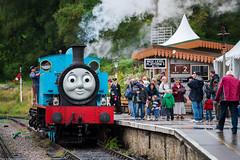 IMGP2002 (silverfish51) Tags: pentax k1 dfa 70200 star lens britain england summer forest dean railway thomas tank engine station steam train blue