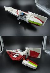 Jedi Starfighter 004 (E-Why) Tags: obiwan kenobis delta7 aethersprite class light lego starfighter interceptor star wars clone