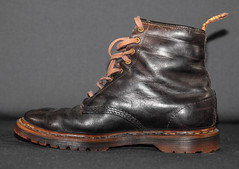 Dr Marten 1460 Brown . Old. (CWhatPhotos) Tags: cwhatphotos doc docs doctor marten martens air wair airwair bouncing soles original close up 8 hole lace boots boot drmartens docmartens dms rouge old vintage dark brown cushion sole foot laced laces photo photos picture pictures with that have dr comfort cushioned wear feet foto fotos which contain footwear 1460 1460s england years year love mine me z welt dm drmarten made engalnd canon 5d mk ii leather bouncingsoles