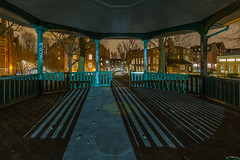 Where Three Boroughs Meet (2) (scarlet-pimp) Tags: shadow bandstand londonist boundaryestate shoreditch outdoor socialhousing longexposure towerhamlets timeout boundarygardens london sky architecture housingestate arnoldcircus wideangle night timeoutlondon