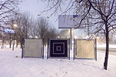 wDSC03520_2 (пкув) Tags: black abstract art dark moscow minimal minimalism minimalizm geometry graffiti gred graffity g white winter snow r
