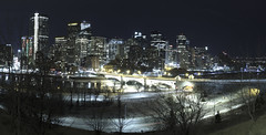 Calgary December Skyline 2016 (brilliantlysharp) Tags: nightphotography calgaryskyline weownthenight bowriver yyc andrewsharp brilliantlysharp brilliantlysharpphotography
