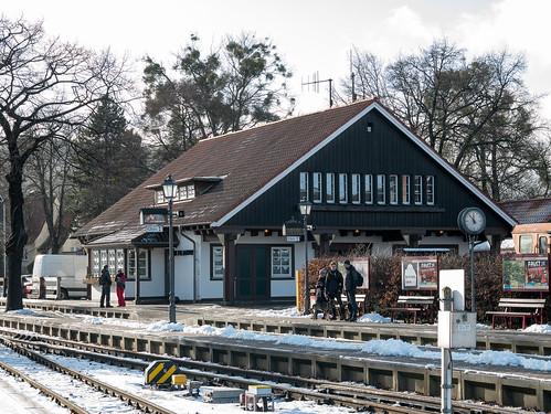 Kurz vor Einfahrt der Schmalspurbahn am Bahnhof Westerntor