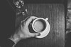 Coffee (borishots) Tags: coffee coffeetime coffeeshop coffeelover blackandwhite bw monochromatic monochrome grain hands handsinframe sonya7 sonyfe28mmf2 wideopen wideangle wood woodentable fineart relax analog retro vintage oslo norway scandinavia timwendelboe