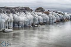 ice on the rocks (Kobie M-C Photography) Tags: nature naturephotographer winter ice lake lakeontario rocks slowshutter nd4 pentaxian pentaxk30 smcpentaxda1855alwr kobiemercuryclarke kobiemc stilllife hdr