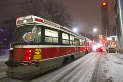 Sloppy Commute (cjb_photography) Tags: streetcar snow sloppy toronto torontophoto torontolife torontoclicks torontoon ttc transit commission