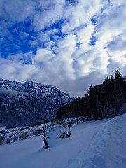 like a rock in the sea! (Mintra Tipas) Tags: mountains snow draussen view winter schweiz switzerland weiss white sky blue stone stein kalt cold