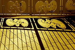 E lui tra di noi (meghimeg) Tags: 2017 lavagna cancello gate grata fence ombra shadow sole sun hff friday venerdì