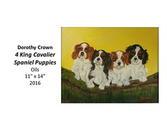 """4 King Cavalier Spaniel Puppies • <a style=""""font-size:0.8em;"""" href=""""https://www.flickr.com/photos/124378531@N04/32363850801/"""" target=""""_blank"""">View on Flickr</a>"""