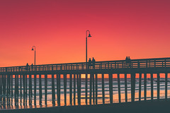 Pier Sunset. California. USA (Marji Lang Photography) Tags: 2016 america american beach builtstructure california californian cayucos colorimage distant hightide marjilang middleeast nature northamerica outdoors pacific pacificcoast pacificocean photography reflection sea silhouette sky tranquility turkey turkeycountry turkish turquie usa unitedstates unitedstatesofamerica bridge coast coastal colorful colors column couples destination documentary dusk holiday holidaydestination horizontal hues jetty ocean orange passageway people pier pillars pontoon red roadtrip severalpeople silhouettes sun sunny sunset sunsetview tide tones tourism tourists travel traveldestination travelphotography visitturkey watching woodenpier