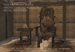 Viking Throne Warrior from Del-ka Aedilis (nea.narstrom) Tags: vikings wikinger genre secondlife throne highseat