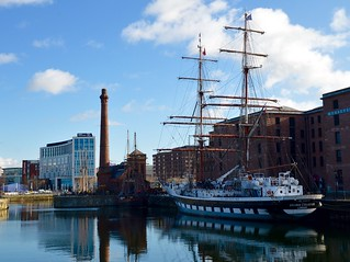 Stavros S Niarchos moored in Canning Dock
