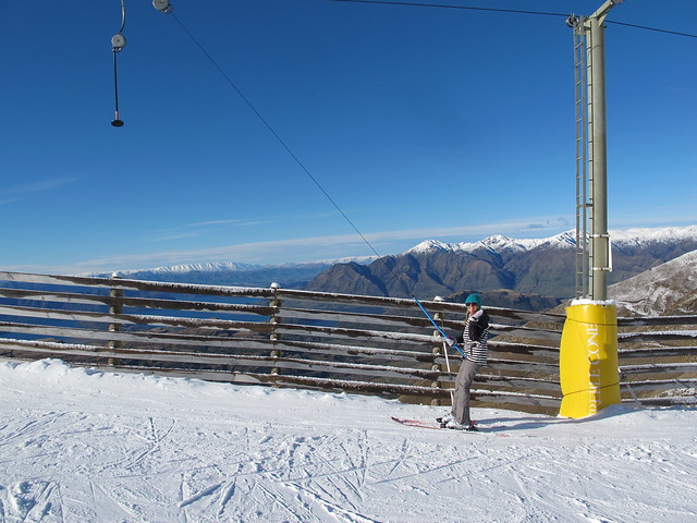 Treble Cone Opening Day 2014 - Gill Lonie on the Platter
