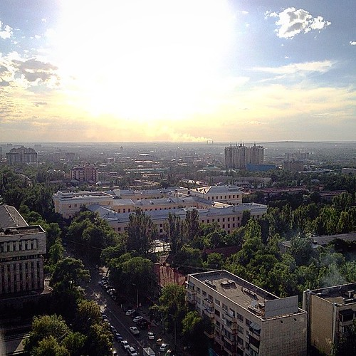 Window view #almaty #kazakhstan