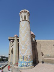 The Hazrat Hyzr Mosque, Samarkand, June 2015 (leonyaakov) Tags: summer museum ceramic minaret muslim religion ceremony mosque unesco promenade uzbekistan samarkand citycenter sunnyday citytour ouzbekistan greatphotographers   nikonflickraward