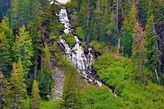 Twin Falls (Explore July 8, 2015 #128) (Joe Lach) Tags: california trees water waterfall alpine pines twinfalls mammoth twinlakes mammothlakes sierranevada inyonationalforest waterpictorial twinlakesfalls joelach
