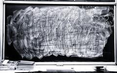 Black Board (Metro Tiff) Tags: school black english glass metal writing chalk drawing board brush math learning slate blackboard erase
