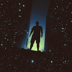 192 • 365 • IV {explore} (Randomographer) Tags: portrait man silhouette self person surreal stairway explore human galaxy scifi conceptual galaxie selfie project365 rslphotographics